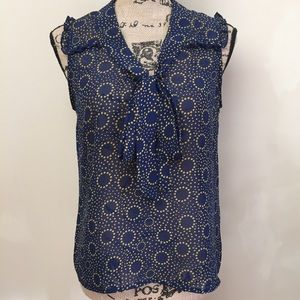 Band of Gypsies top, Size M, Blue Sleeveless, EUC